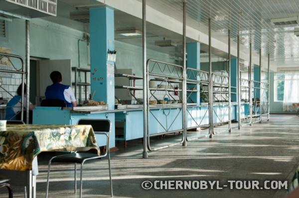 """Столовая в баре""""Припять"""" в г. Чернобыль"""